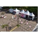 aluguel de tendas para eventos ao ar livre Rio Claro
