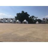 tenda de lona fechada Ibirapuera